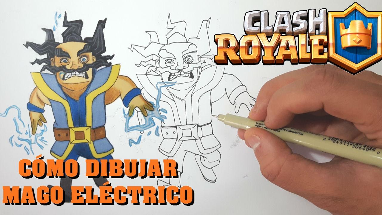 Dibujando Al Mago Eléctrico: Cómo Dibujar MAGO ELÉCTRICO De CLASH ROYALE-MagicBocetos