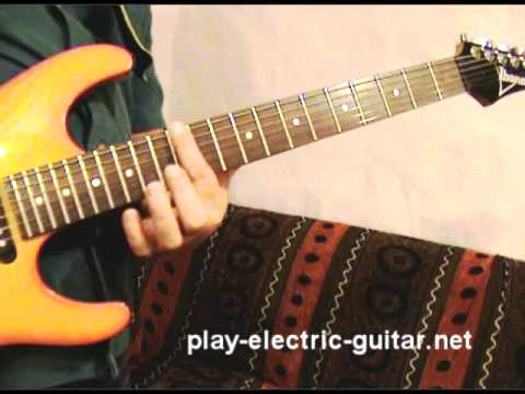 Distorted guitar power chords in dropped D tuning - YouTube