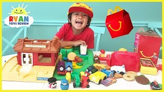 McDonald's Pretend Play Food Toys with McDonald's Playground Playset and Cash Register