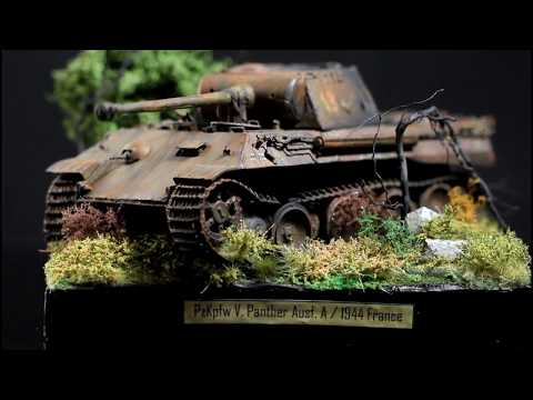 PzKpfw V Panther Ausf.A - Destroyed Tank, Diorama Kit