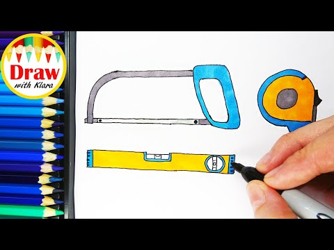 Download How To Draw And Coloring Tools For Kids Dibujar Y Colorear