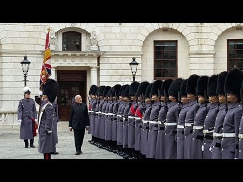 PM Modi's ceremonial welcome in London, United Kingdom