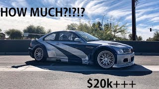 How much did the NFS M3 GTR cost to build???