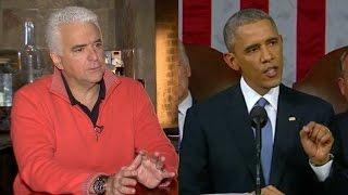 KANSAS CITY: Obama, O'Hurley. O'Hurley, Obama