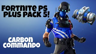 Fortnite: Déverrouillage de l'ensemble commando de carbone! (Gratuit PS4 Exclusive - Blue Tech Ops)