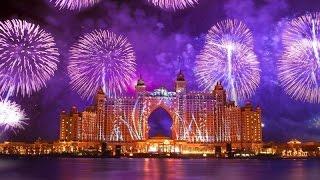 WORLD'S LARGEST FIREWORKS ON DUBAI NYE 2015