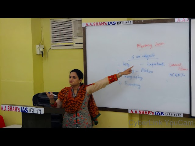 UPSC IAS Exam: What to study? How to study? Guidance by Mrs. Bilquees Khatri