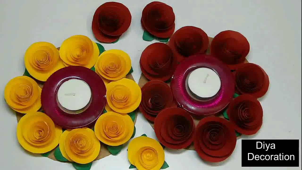 Diya decoration diwali diya decoration diy diya for Diya decoration youtube