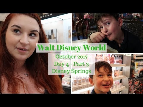 Day 4 Part 3 - Disney Springs - Disney World, Disney Cruise & Orlando Vacation Oct 2017 Travel Vlogs