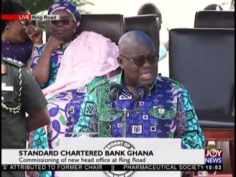 Commissioning Of New Standard Chartered Bank Ghana Head Office At Ring Road - JoyNews (3-10-18)