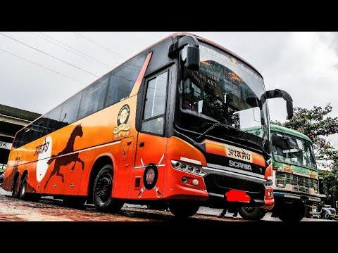 On-Board MSRTC Ashwamedh Scania Descending Lonavala Ghat!!!!