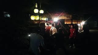 2018/10/15に天武天皇社で行われた、傳馬町五ッ拍子です。