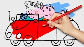 NEW! Peppa Pig Coloring Pages for Kids Coloring Games Part 24 - Coloring Book