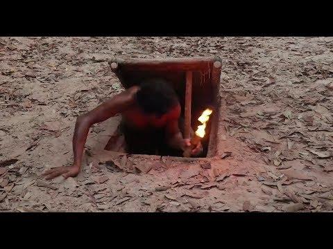 印度小哥在地下挖别墅,钻进去的一瞬间,真是不得不服呀!