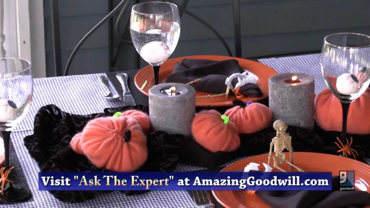 Halloween Party Decorations U0026 Table Settings   Do It Yourself By Goodwill
