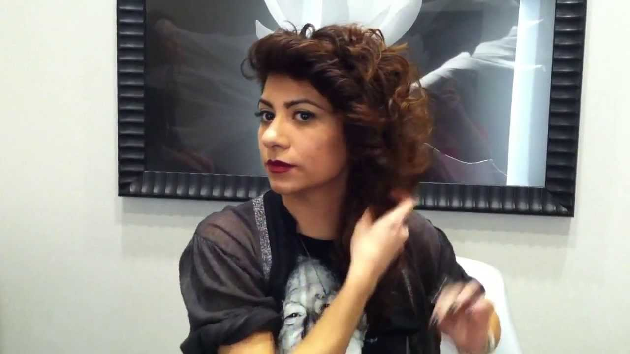 Hair Tutorial Curly Hair Updo Ron King Stylist Does A Romantic