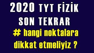 TYT Fizik Full Tekrar 💣  TYT Fizik Son Tekrar  Soru Tahminlerim