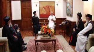Supreme head of India's Christian Orthodox Church calls on Modi