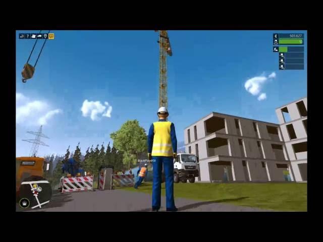 Let's Play Bau-Simulator 2015   Großbaustelle - Abschnitt 3 - Rest-Arbeiten   Folge #024