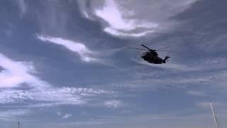 RAF Merlin Visit Low Level Flyby St Peter Port, Guernsey