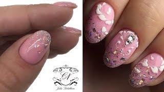 Укрепление БЛЁСТКАМИ\Молниеносный дизайн ногтей гель лаком\Нежнятина на ногтях