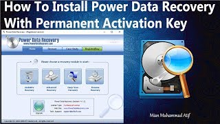 How To Install and Register Power Data Recovery With Permanent Activation Key