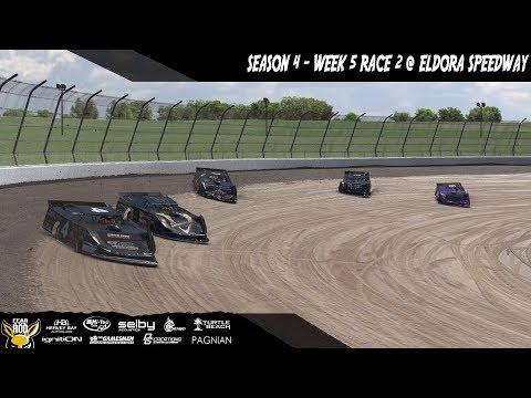 iRacing DIRTcar Pro Late Model Series Week 5 Race 2 @ Eldora Speedway