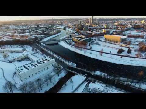 The city of Vilnius 2016 winter 4K UHD