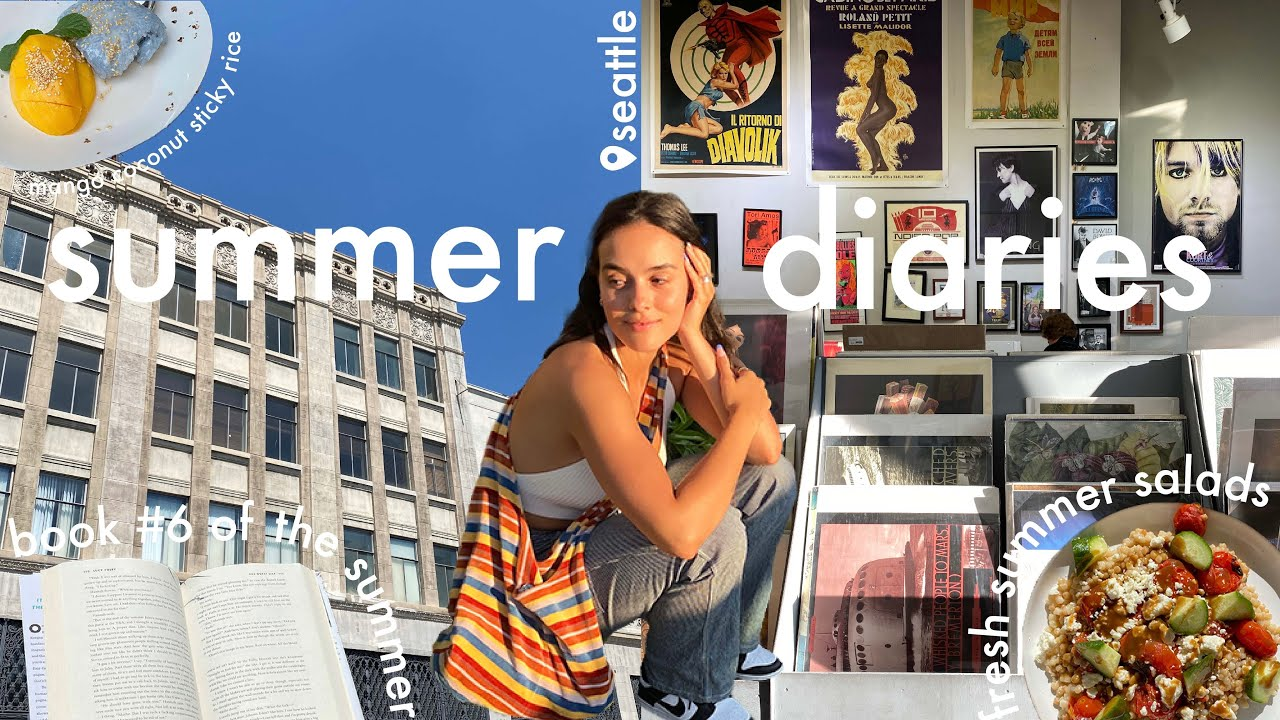 a few days in my life // farmers market + bake with me & thrifting | summer diaries vlog