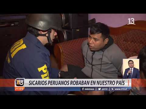 Detienen a banda de sicarios peruanos que operaba en Chile