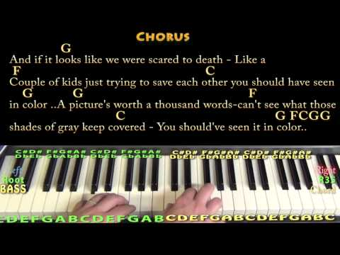 In Color (Jamey Johnson) Piano Cover Lesson in G with Chords/Lyrics