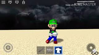 Luigi doing Orange Justice | Roblox