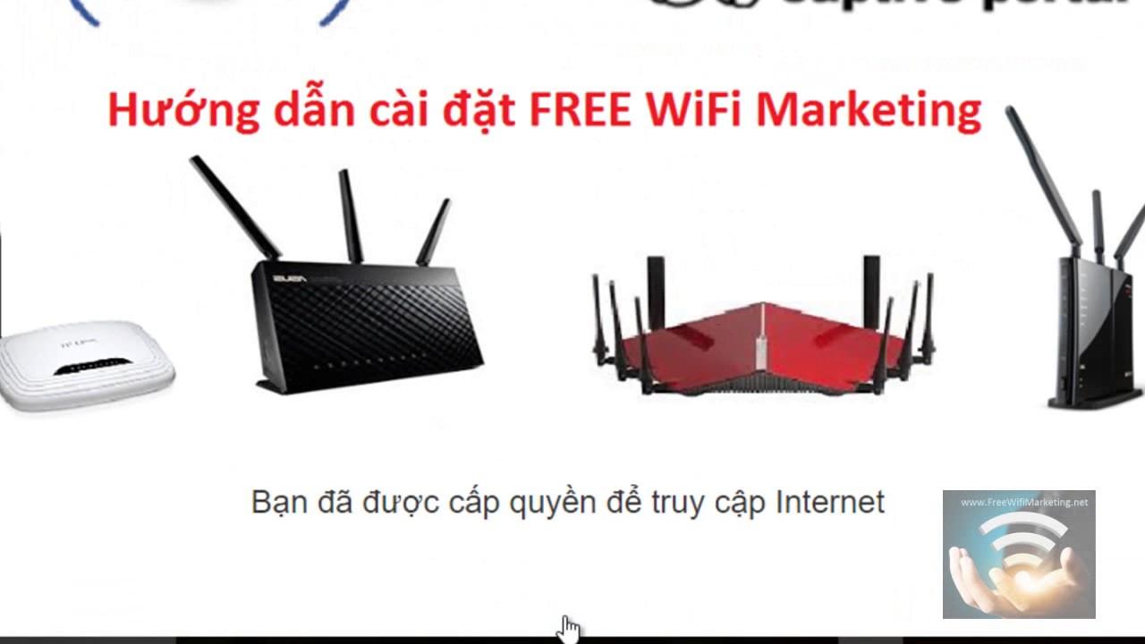 Giải pháp quảng cáo WiFi Marketing X-WiFi cấu hình trang chào login banner website facebook check-in