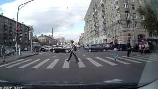 Авария на Новослободской улице.