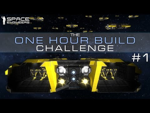 Space Engineers - LIVE 1 HOUR BUILD CHALLENGE #1 - Drone Carrier