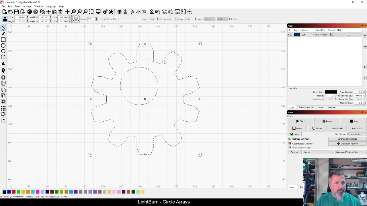 LightBurn Tutorial: Circle Arrays