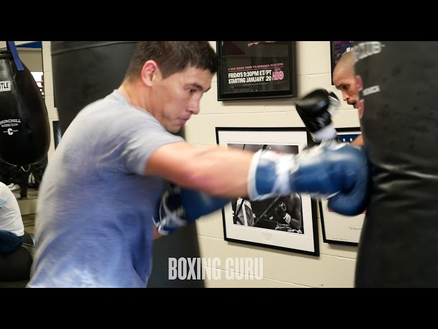 DMITRY BIVOL TRAINING FOOTAGE - CHURCHILL BOXING CLUB - SANTA MONICA, CA