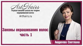Законы окрашивания волос  ч 1|ArtHair| Светлана Андреева