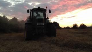 2012 John Deere 73-30  Tractor Pulling A Hay Bailer Charvil Berkshire
