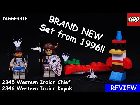 Lego 2845 2846 Western Indian Chief Kayak Review 4K