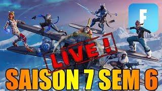 LES DEFIS !! SAISON 7 SEMAINE 6 EN LIVE DANS FORTNITE !! (partie 1)