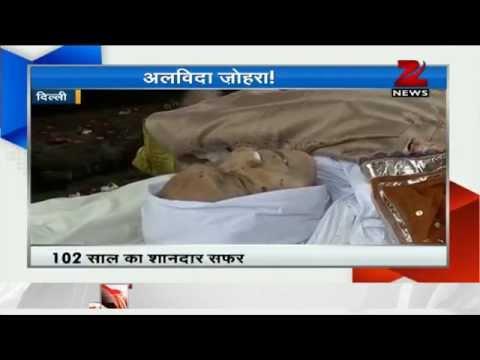 Last rites of Zohra Sehgal held in capital