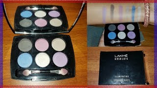 Lakme Absolute Illuminating Eyeshadow Pallette | Review & Swatches