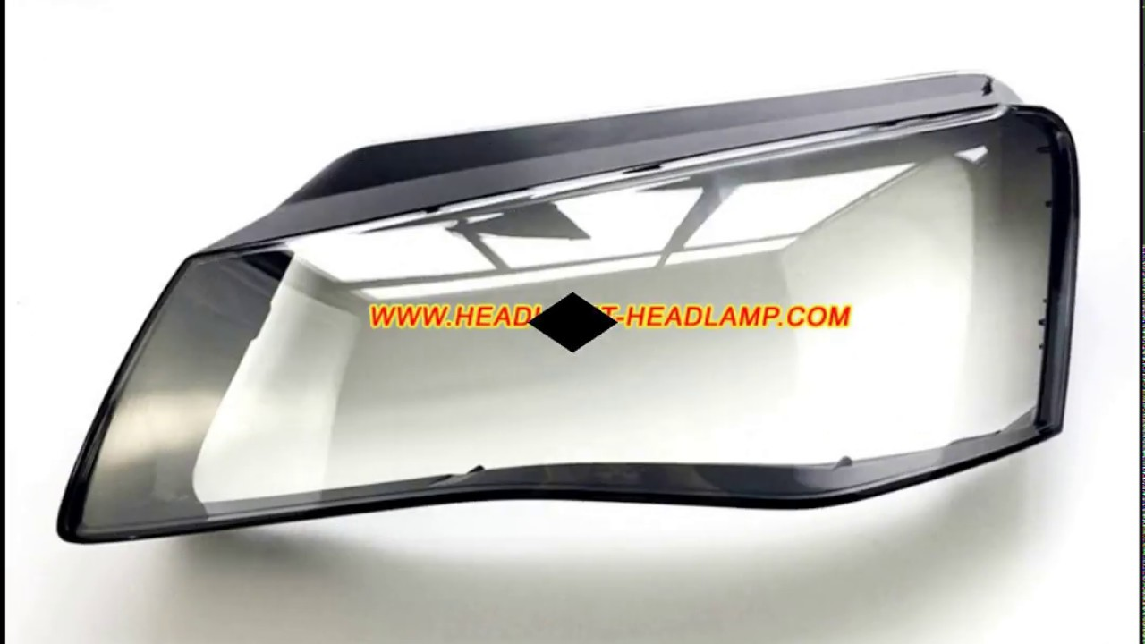 Audi A8 Headlight Plastic lens Cover Lenses Replacement - YouTube
