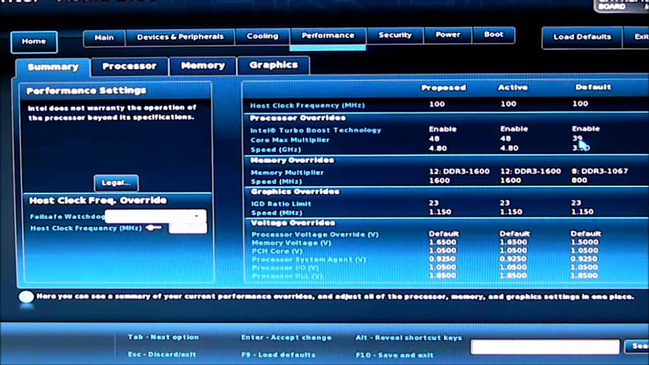 Intel DZ77GA-70K Visual BIOS Overview