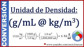 Convertir G Ml A Kg M3 Densidad Youtube