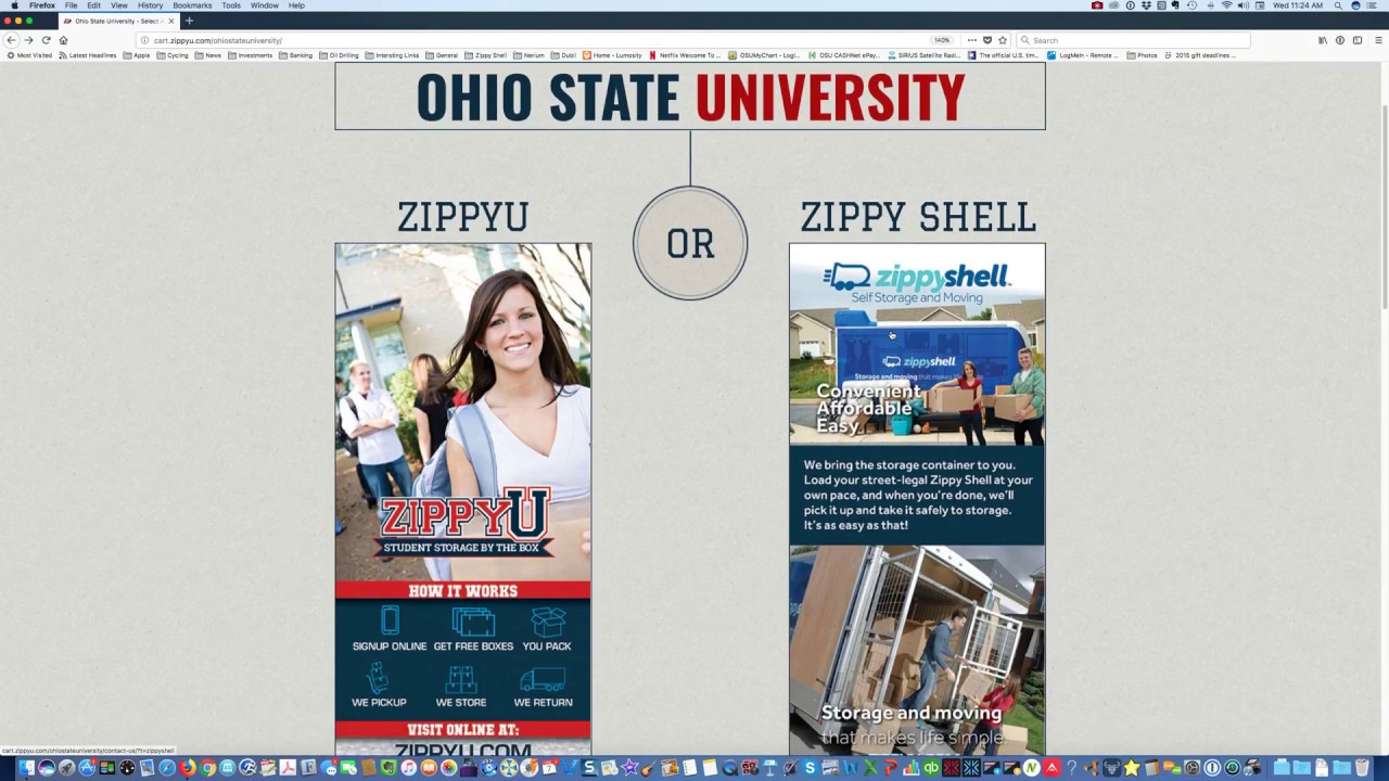 Ohio State University   Select A Package