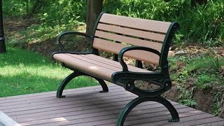 easy maintenance benches use wood plastic composite