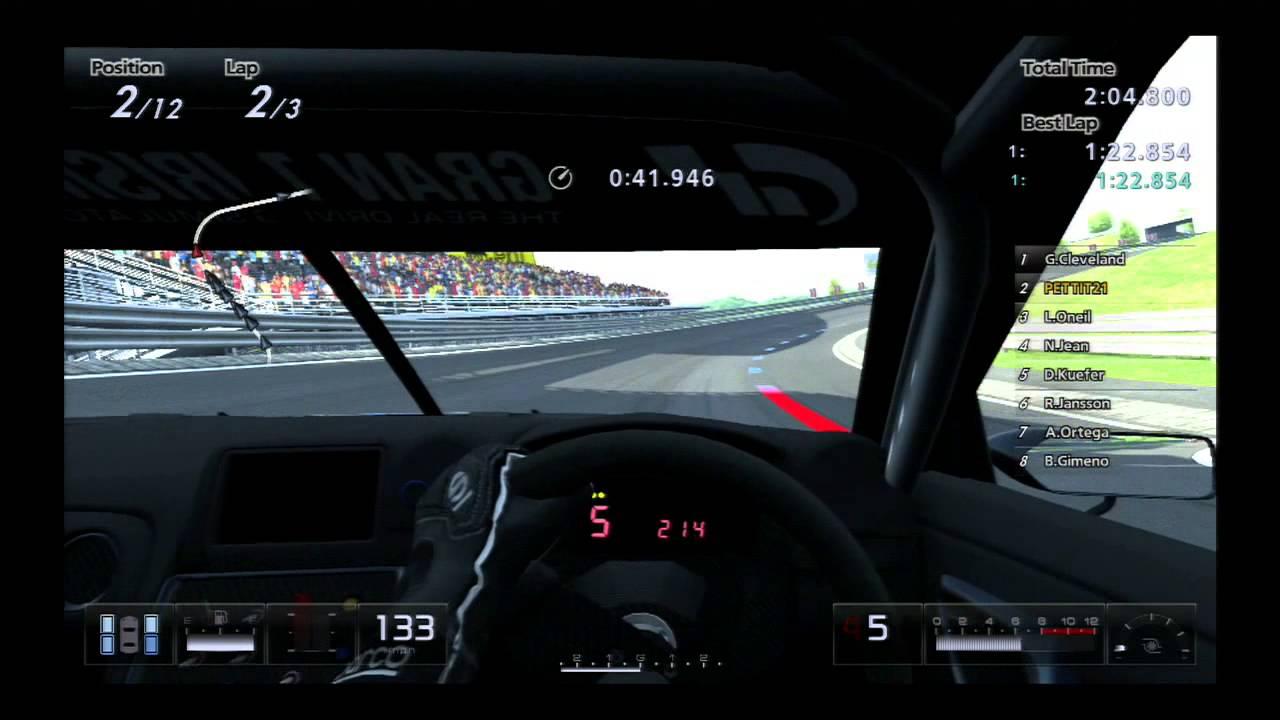 Gran turismo 5 g25 steering wheel driving ps3
