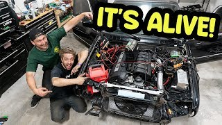 Engine swapped BMW FIRST START UP!